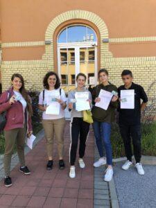 Наші студенти після офіційного запису на навчання у місті Кошіце Університет Павла Йозефа Шафарика